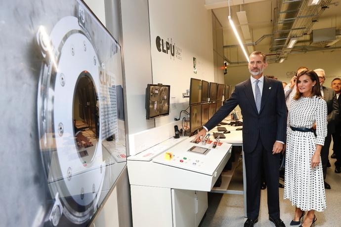 Rey Felipe VI inaugura en Salamanca láser más potente de España