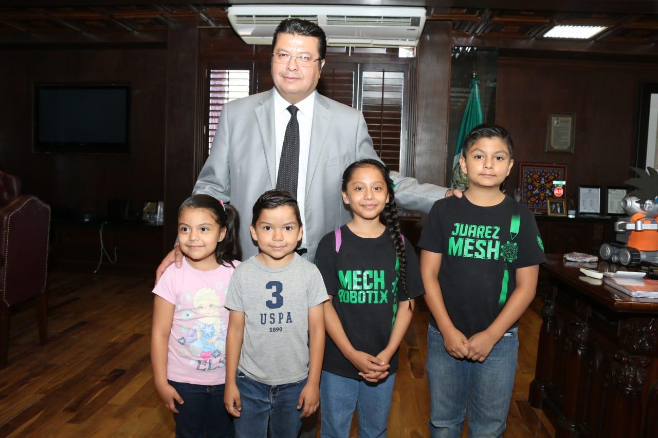 Niños juarenses ganan tercer lugar en campeonato mundial de robótica