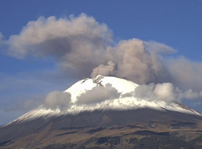 Se visten de blanco el 'Popo' y el Pico de Orizaba