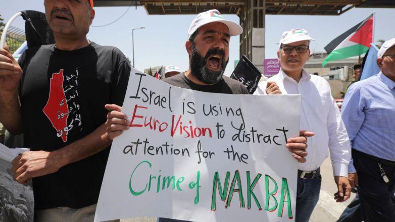 Palestinos recuerdan aniversario de su desplazamiento