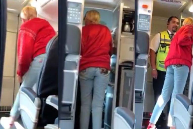 Laura Bozzo arma escándalo en un avión