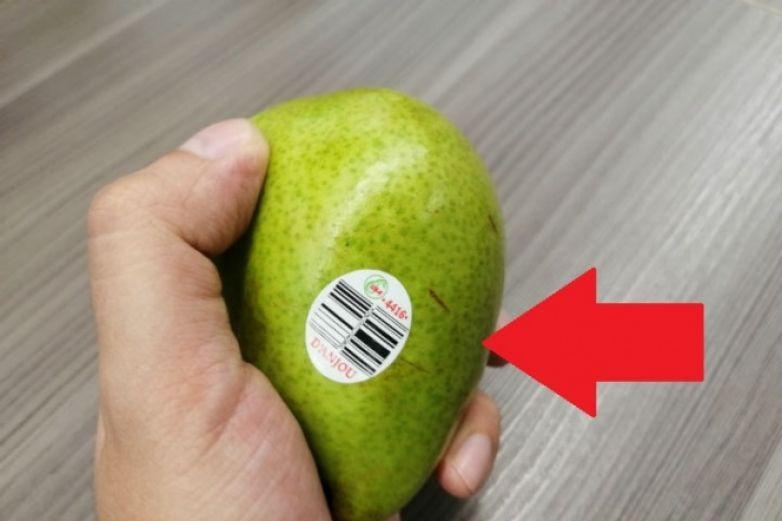 ¡Ojo! Fíjate si la etiqueta de la fruta tiene un 8