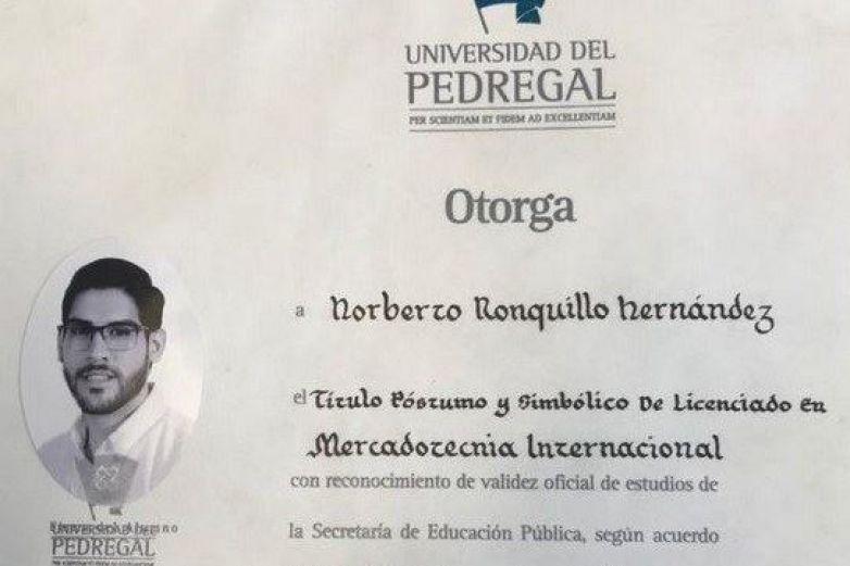 Mi hijo lo logró... se ha graduado: Padres de Norberto