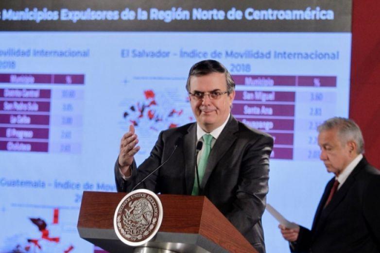 Destaca Ebrard apoyo a iniciativa de México ante migración