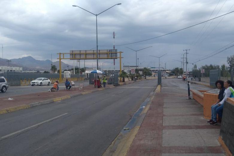 Hay poca fila en puentes para ir a El Paso