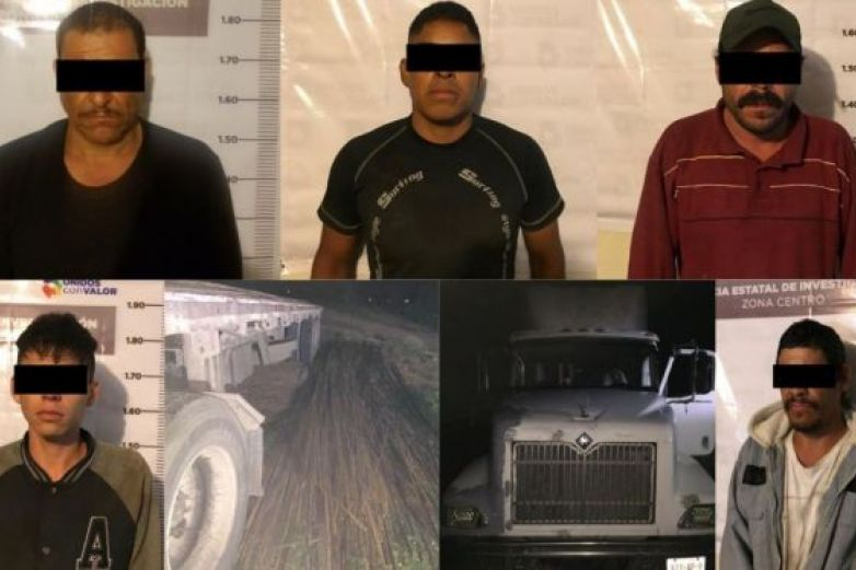 Los detienen por robar material de obra pública en Satevó
