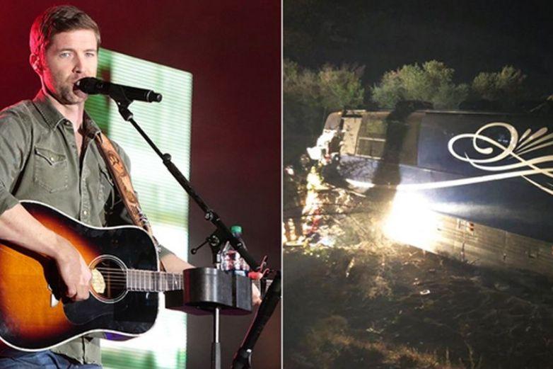 Autobús de cantante de country cae en acantilado; hay un muerto