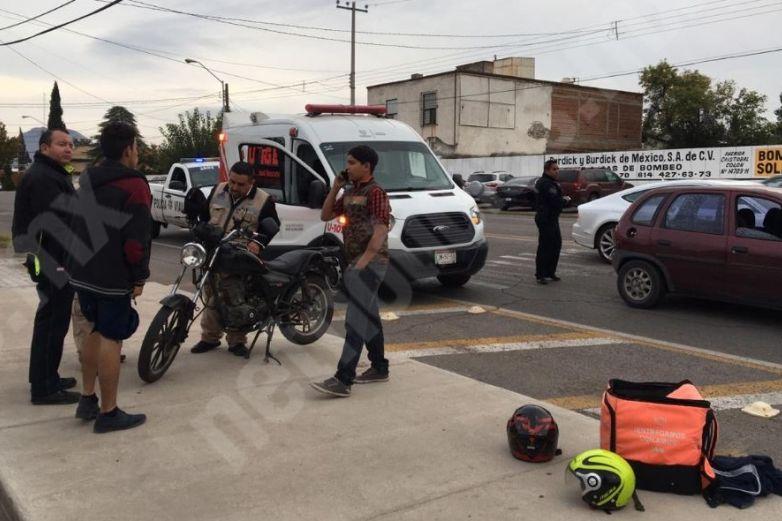 Choca motociclista contra autoen SanFelipe
