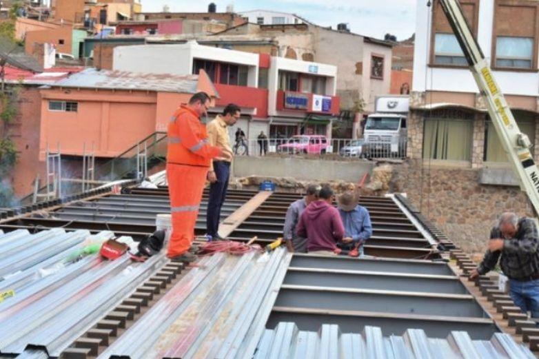 Reconstrucción del puente de Guanajuato casi está lista