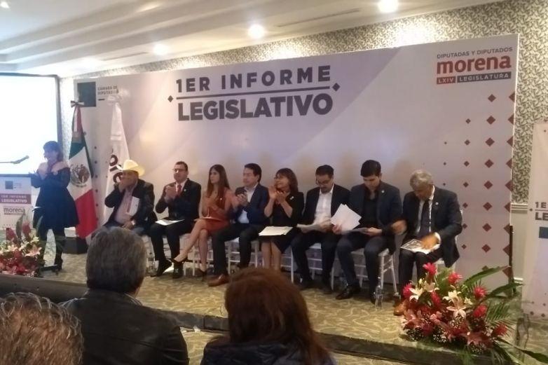Presentan diputados federales de Morena primer informe