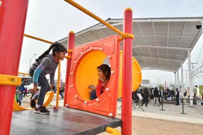 Estrenan parques recreativos en Aldama