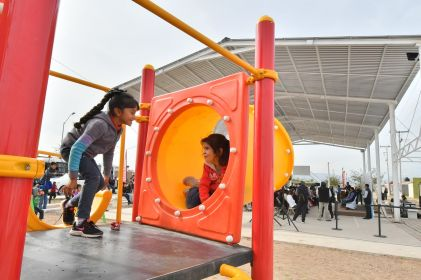 Estrenan parques recreativos en Aldama