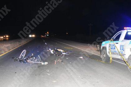 Arrollan y matan a ciclista; conductor se da a la fuga