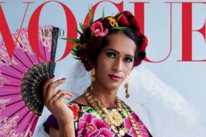Mujer muxe muestra tradición oaxaqueña en portada de Vogue