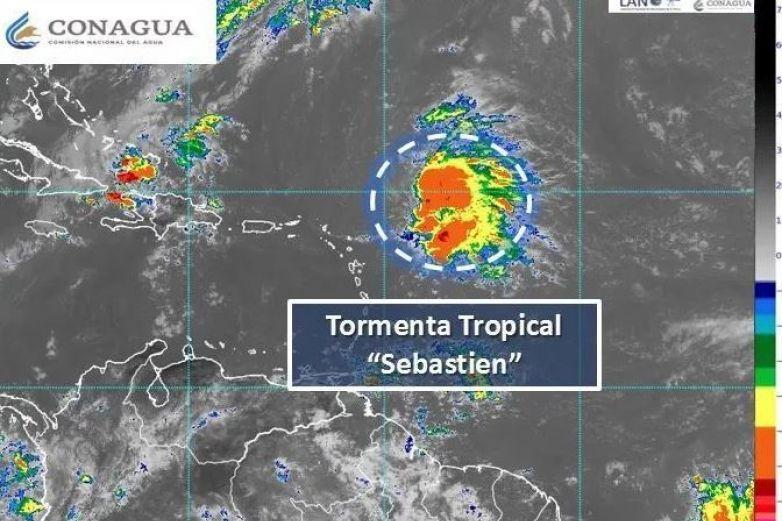 Se forma la tormenta tropical 'Sebastien' en el  Atlántico