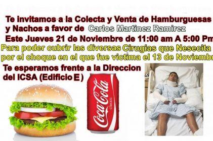 Invitan a hamburguesada en apoyo a estudiante de la UACJ