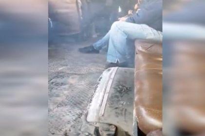 Camión en pésimas condiciones pone en riesgo a pasajeros