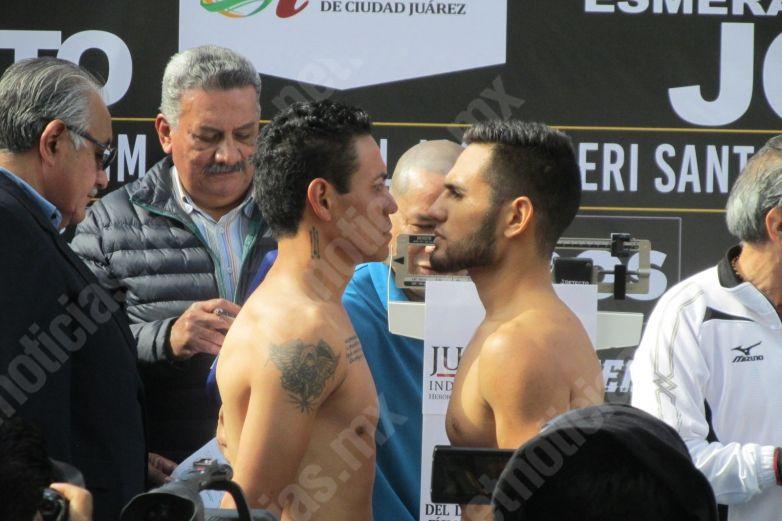 En peso y forma peleadores para velada boxística