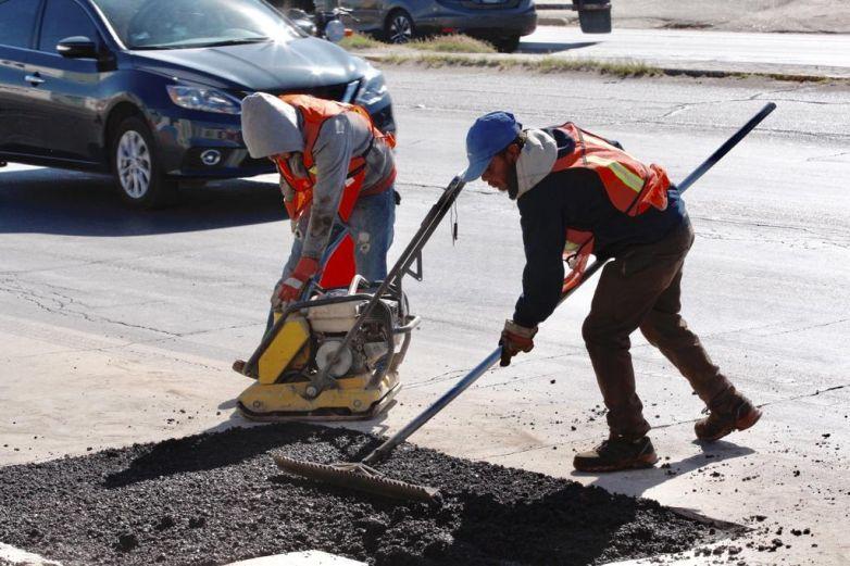 Repara Municipio más de 3 mil baches en noviembre