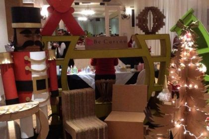 Muebles, decoraciones y todo lo que se te ocurra transformado en cartón