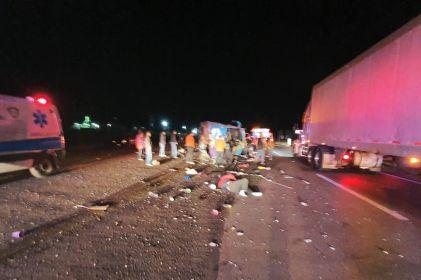 Atenderá DH a accidentados de camión en Delicias