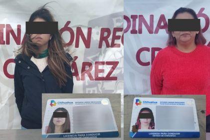 Caen 2 mujeres con licencias falsas