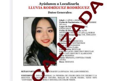 Encuentran a adolescente con reporte de desaparición