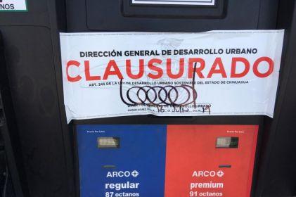 Clausuran otra gasolinera Arco; van 6 estaciones suspendidas