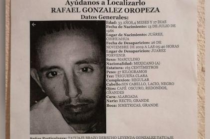 Buscan a Rafael González; desapareció en el poblado de San Agustín