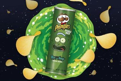 Pringles lanza edición especial de 'Rick & Morty' sabor pepinillo