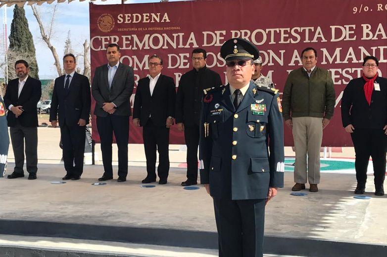 Toma protesta nuevo mando de guarnición militar en Juárez