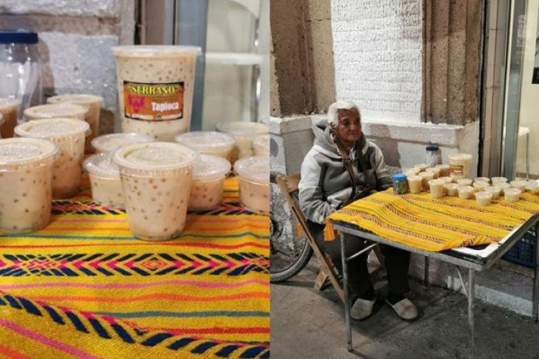 Viralizan a señora que vende 'la mejor tapioca del mundo'