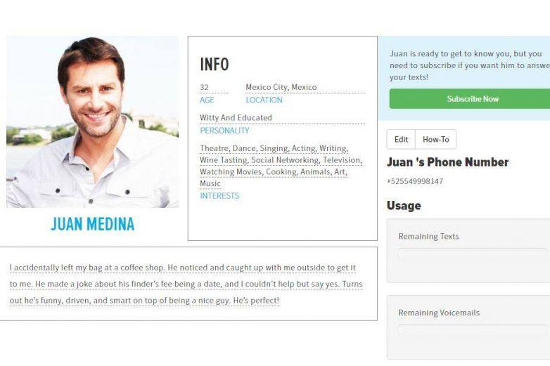 App que te ayuda a fingir a tener novio