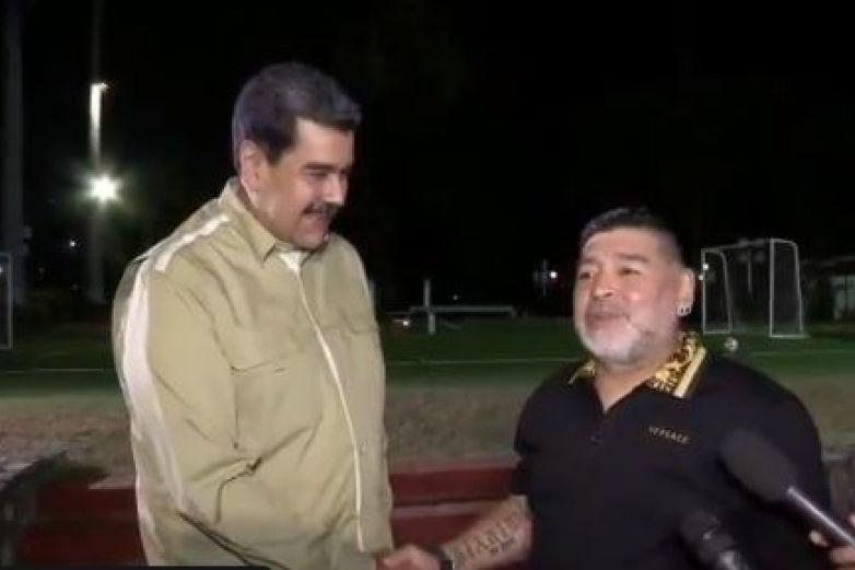 Maradona se reúne con Nicolás Maduro en Venezuela