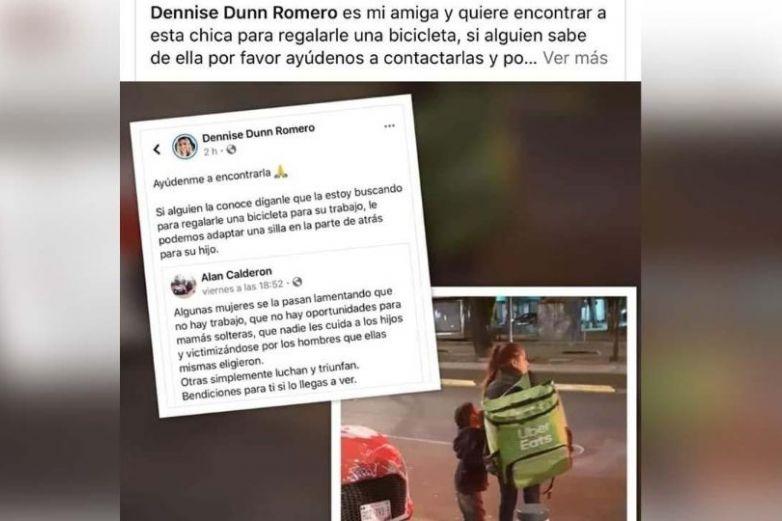 La verdad detrás de la foto de 'madre e hijo repartiendo comida a pie'