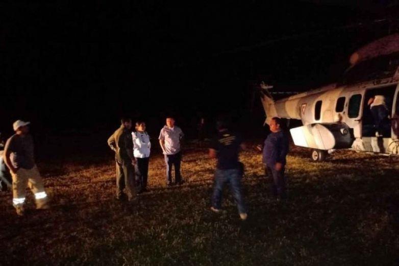 Desplome de helicóptero deja un muerto en Chiapas