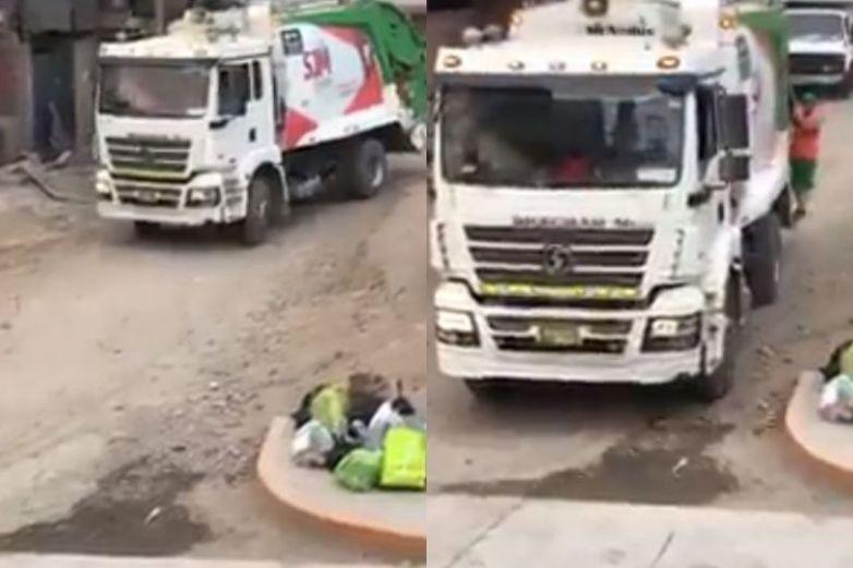 Camión de basura pone 'Tusa' y sorprende a vecinos