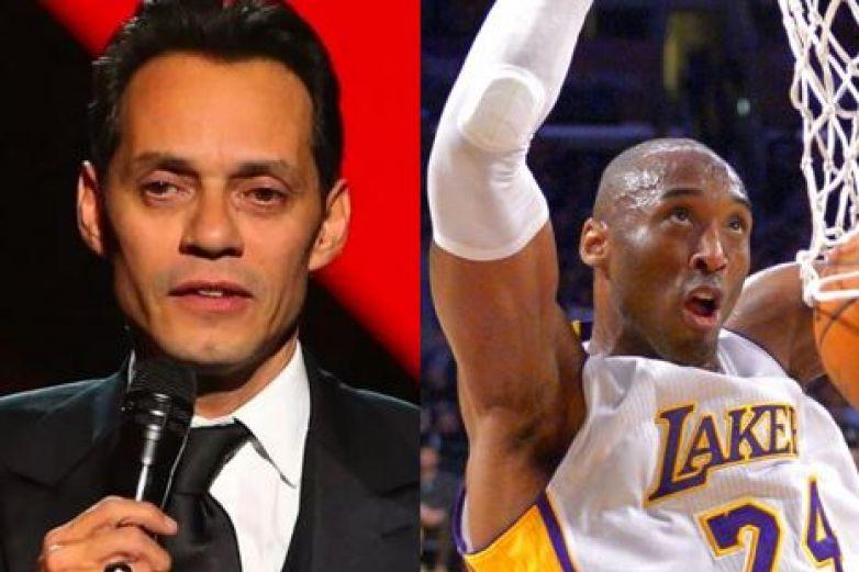 Marc Anthony no controla el llanto en emotivo homenaje a Kobe Bryant