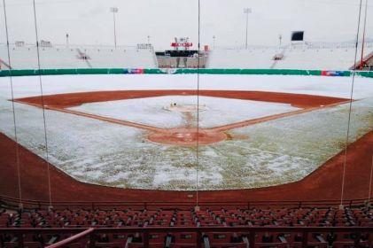 El estadio Juárez amaneció con un diamante totalmente blanco