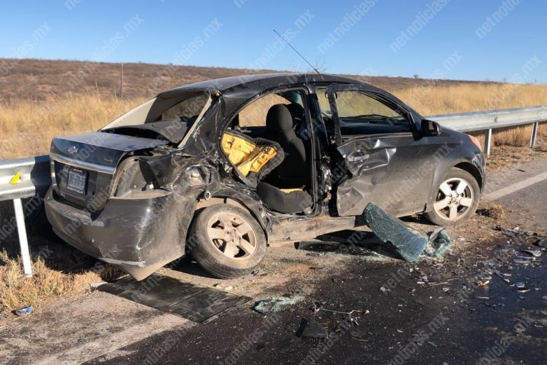 Se registra accidente en la carretera libre a Juárez
