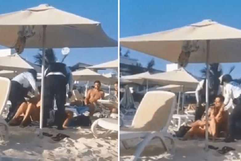 Arrestan a turistas en playa por no consumir productos