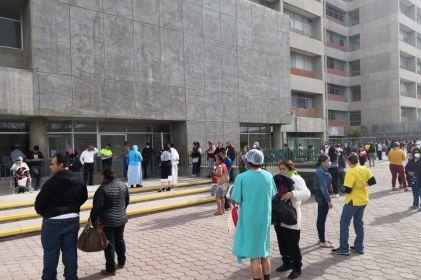 Desalojan hospitales del IMSS tras temblor