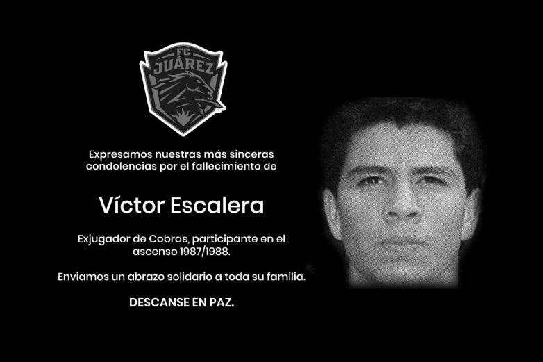 Fallece Víctor Escalera, exfutbolista de Cobras de Ciudad Juárez