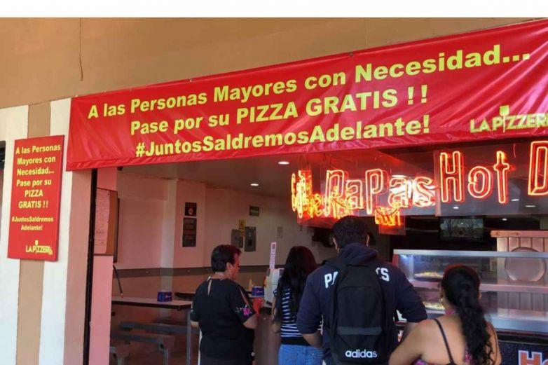 Pizzas gratis para abuelitos en León por coronavirus