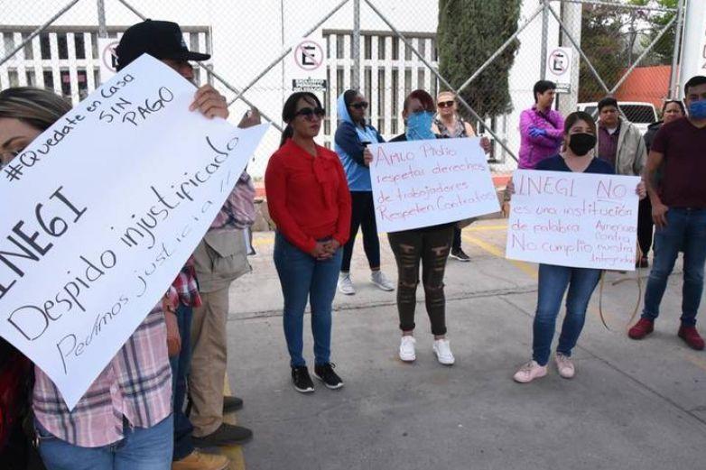 Protestan encuestadores de Inegi por despidos injustificados
