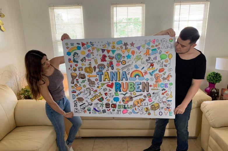Colorea en familia tu propio poster