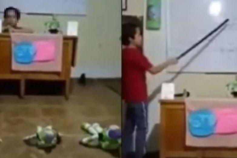 Niño imita conferencia de López-Gattel y 'rompe' las redes