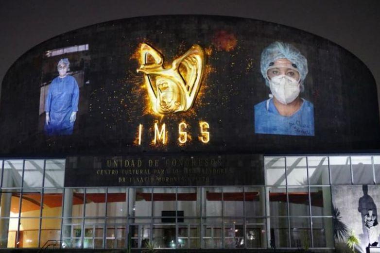 Crea Imss mural en honor a trabajadores de la salud