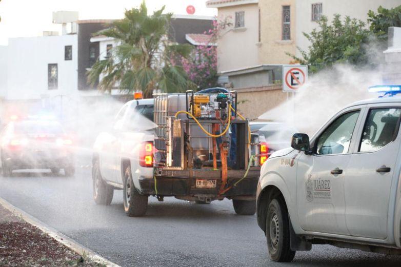 Sanitizan 125 colonias de la ciudad