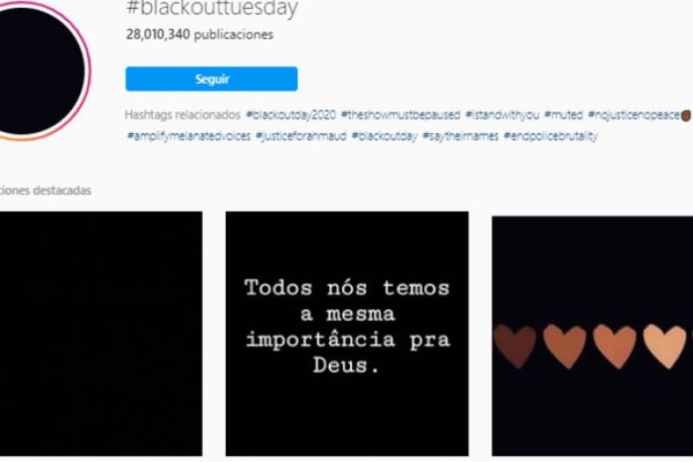 #BlackOutTuesday, el movimiento antirracismo online